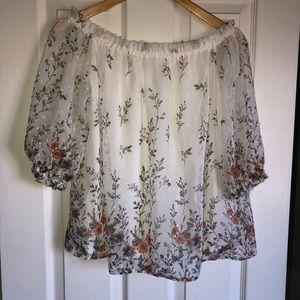 SWEET RAIN off shoulder blouse
